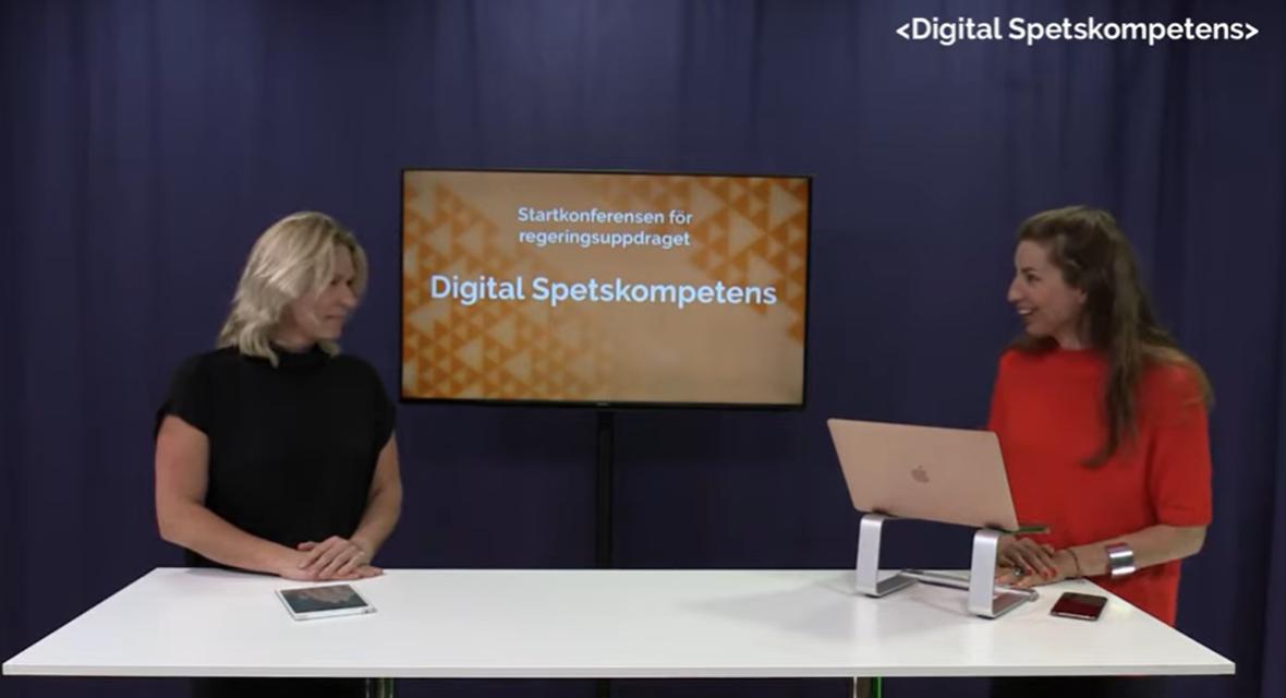Åsa Zetterberg vid konferensen Digital Spetskompetens