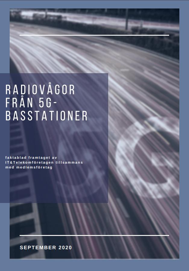 Framsida rapport: Radiovågor från 5G-basstationer