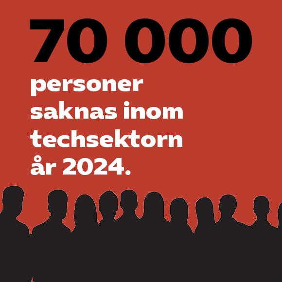 70 000 personer saknas inom techbranschen 2024